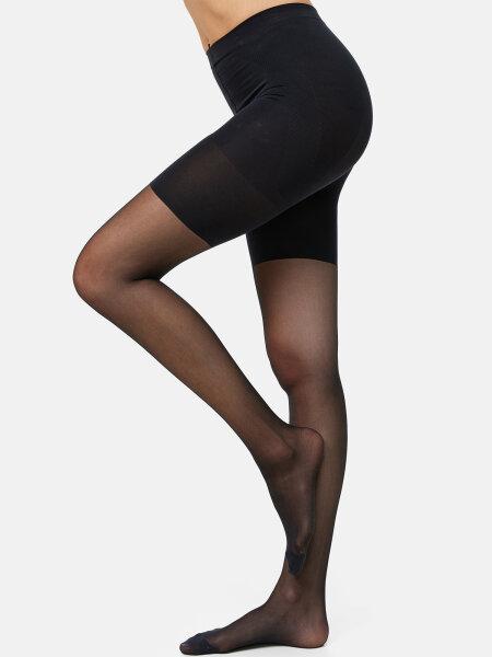 NUR DIE Strumpfhose Bauch-Beine-Po 20 DEN - schwarz - 44-48