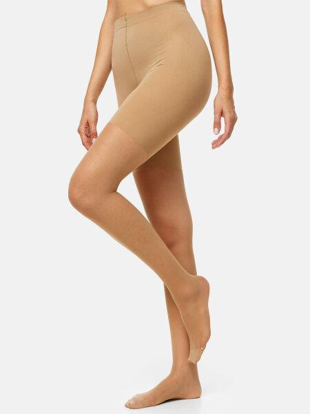 NUR DIE Strumpfhose Bauch-Beine-Po 20 DEN - mandel - 44-48