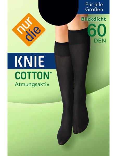 NUR DIE Kniestrümpfe Cotton 60 DEN