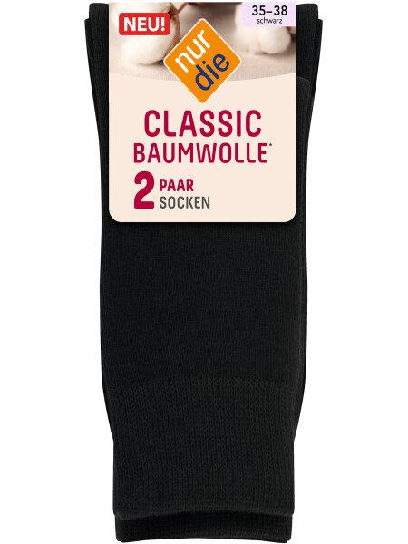 NUR DIE Socken Classic Baumwolle 2er Pack