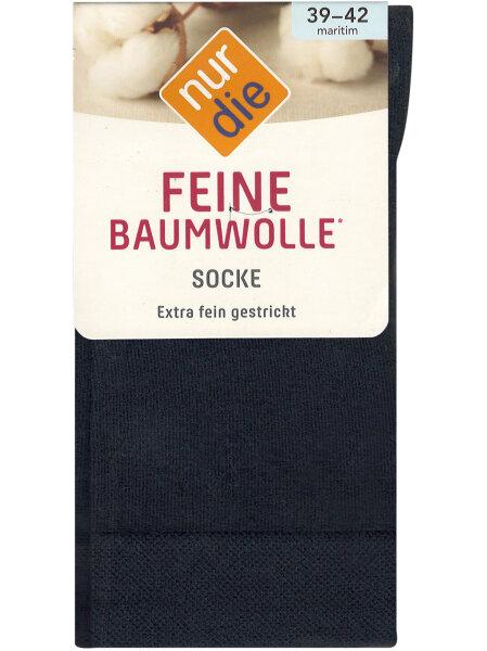 NUR DIE Socke Feine Baumwolle