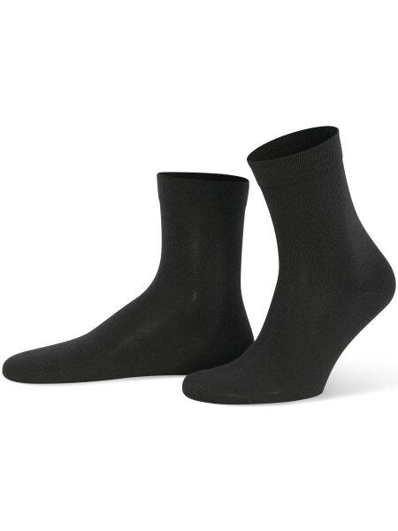 NUR DIE Socken Ohne Gummi 3er Pack - schwarz - 39-42