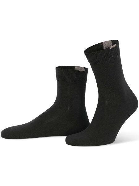 NUR DIE Socken Passt Perfekt 3er Pack - schwarz - 39-42