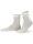 NUR DIE Socke Feine Baumwolle - weiß - 35-38